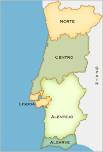Portugal golf regions